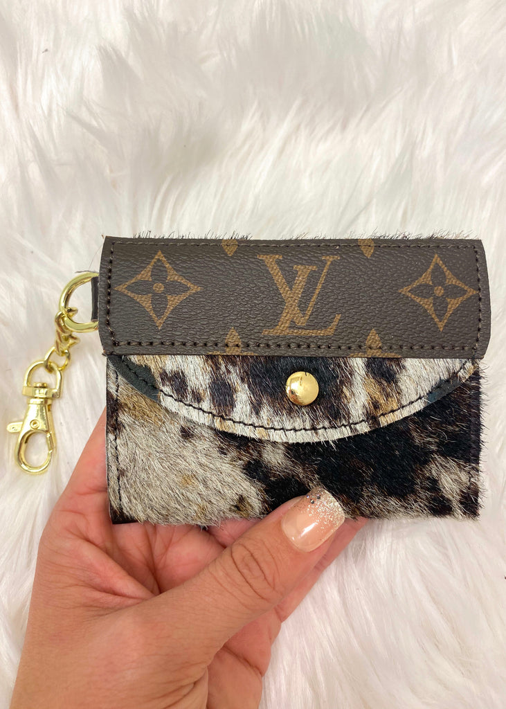 Upcycled Authentic Louis Vuitton Card Holder- Spotted - Vogue Society