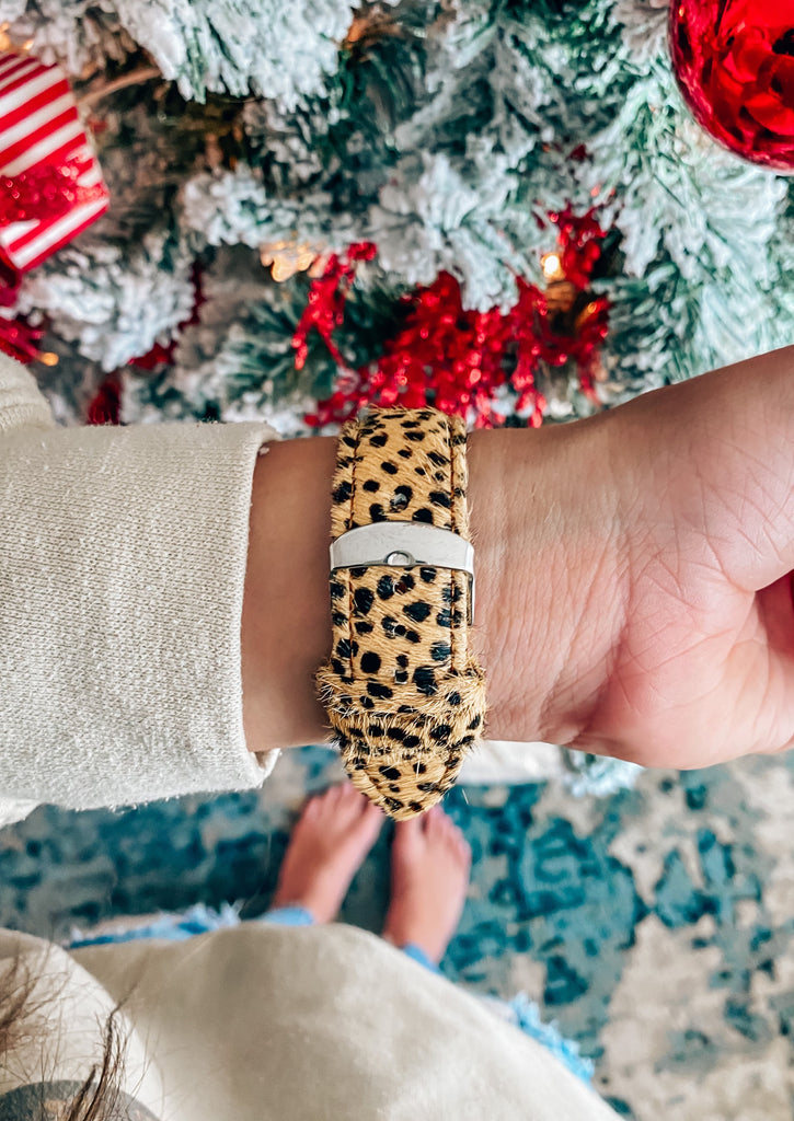 Leopard Apple Watch Band- Tan - Vogue Society