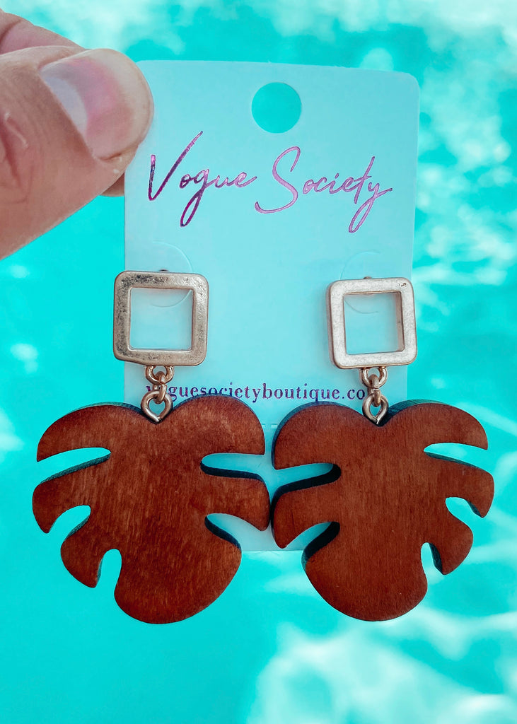 Royal Palm Earrings - Vogue Society
