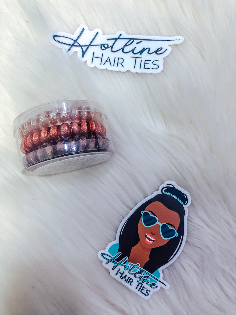Hotline Hairties Original Set- Warm Sparkle