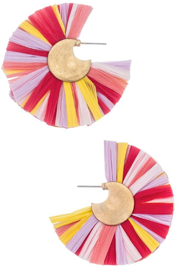 Tutti Frutti Fan Earrings