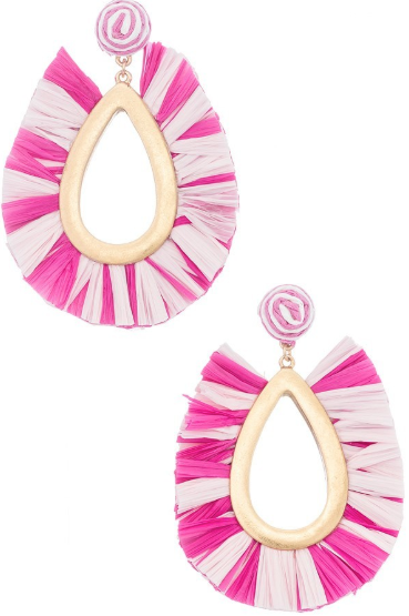 Multi Pink Drop Fan Hoops