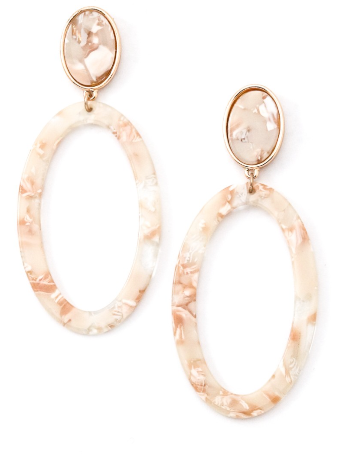 Light Mix Marble Earring