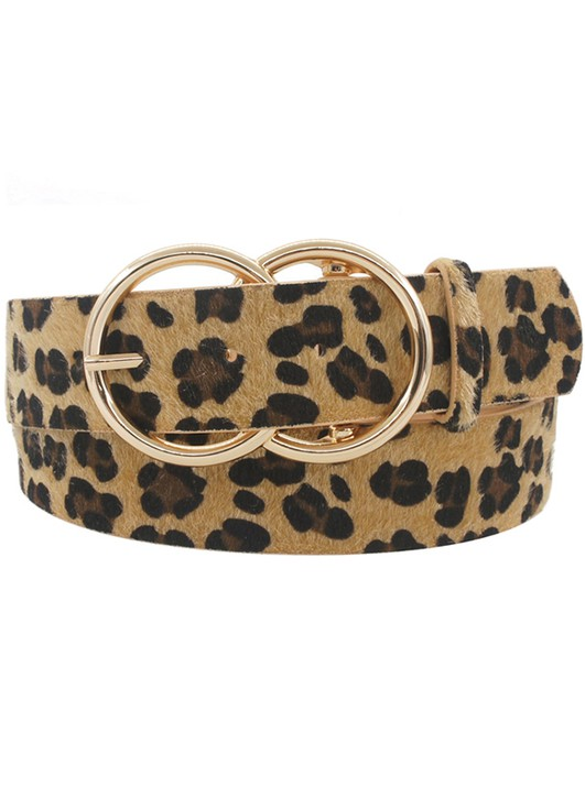 Thick Double O Belt- Leopard