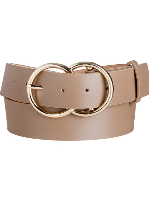 Thick Double O Belt- Light Tan