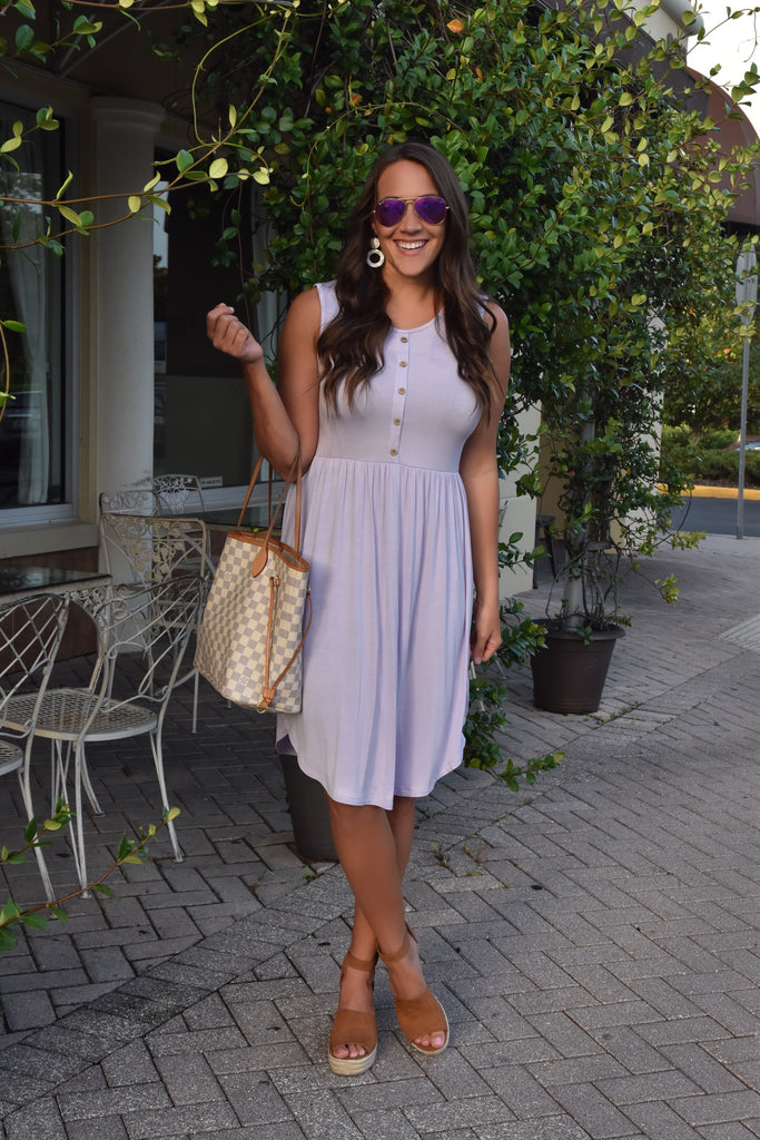 You Are My Destiny Tank Dress- Lilac