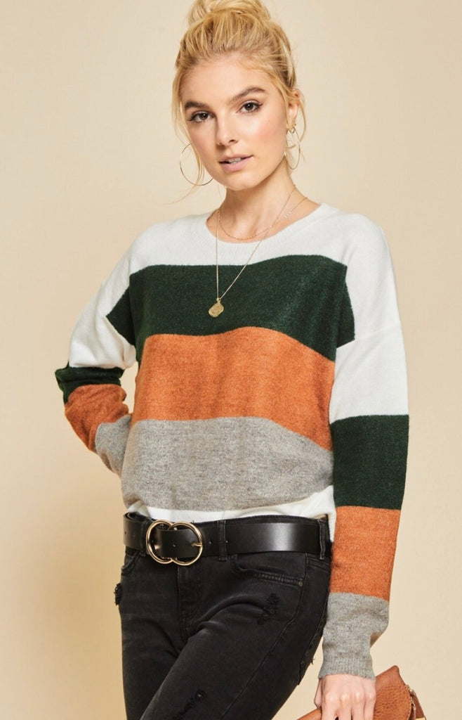 Autumn Love Striped Sweater