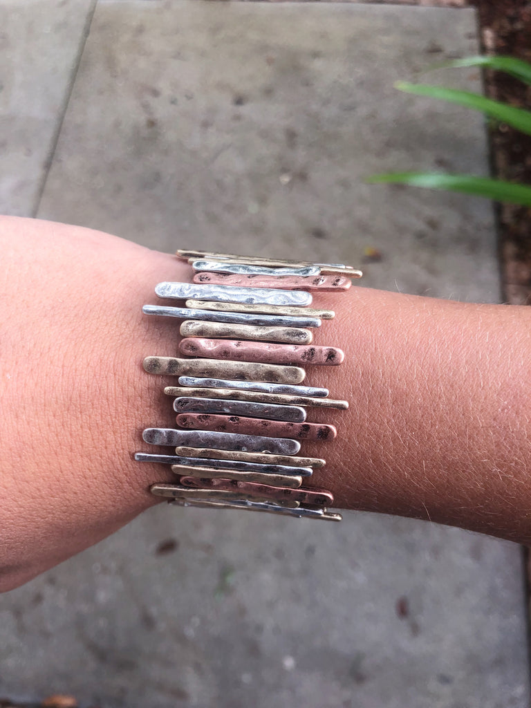 Multi Bar Stretchy Bracelet