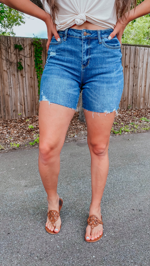 JUDY BLUE Milo Cut Off Shorts - Vogue Society