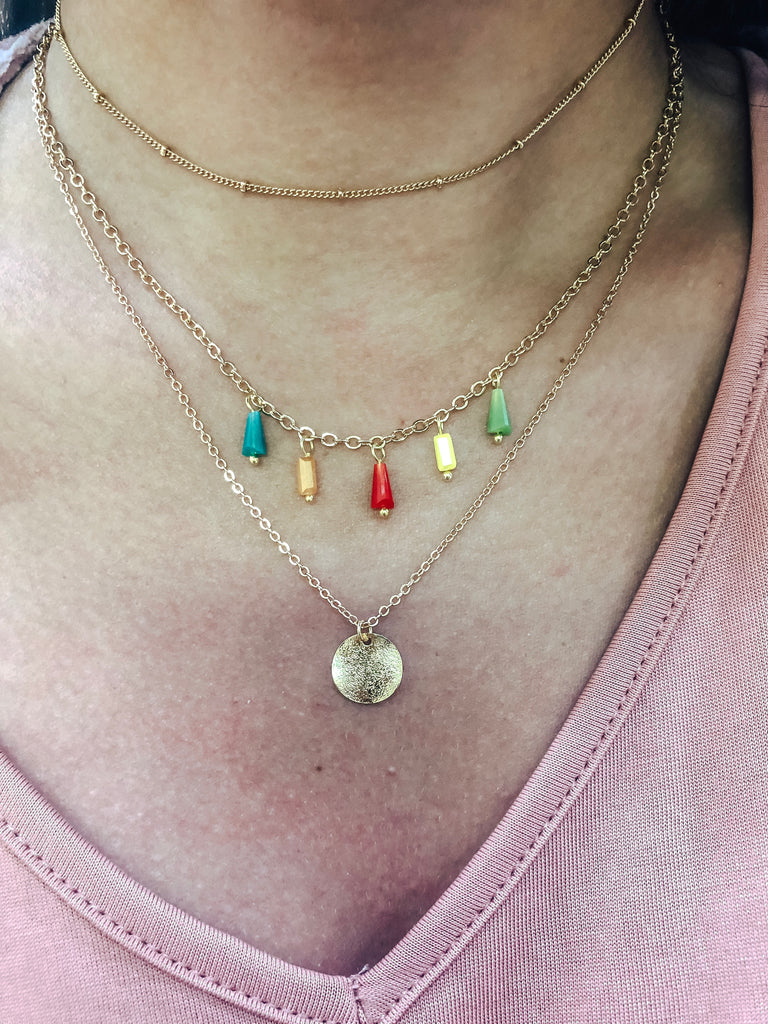 Colorful Day Layered Necklace