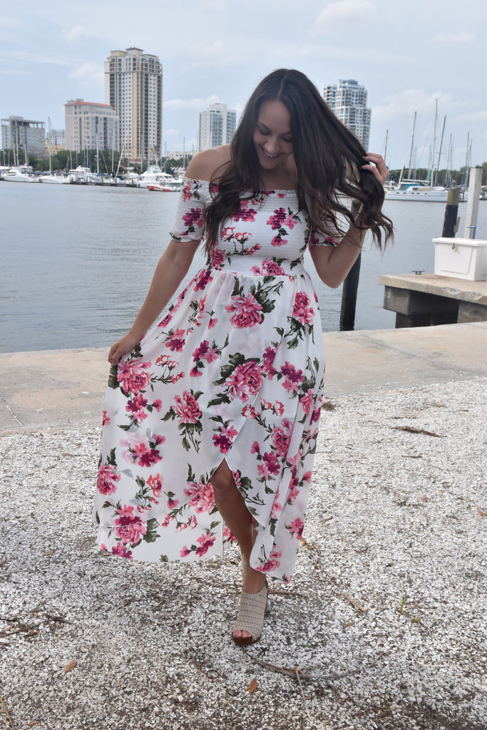 Sunkissed Floral Maxi- White