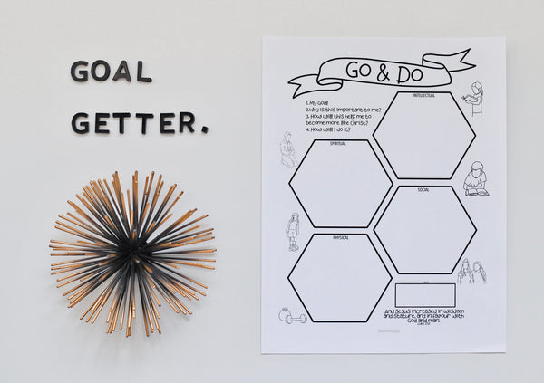 Goal Setting Printable for LDS Youth: Spiritual, Social, Physical, Intellectual
