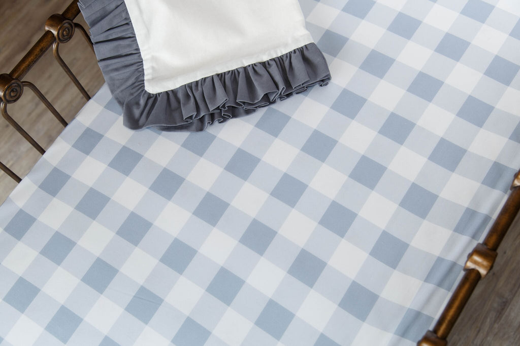 Blue Buffalo Check Crib Sheet
