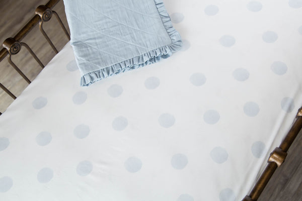 Blue Dot Crib Sheet