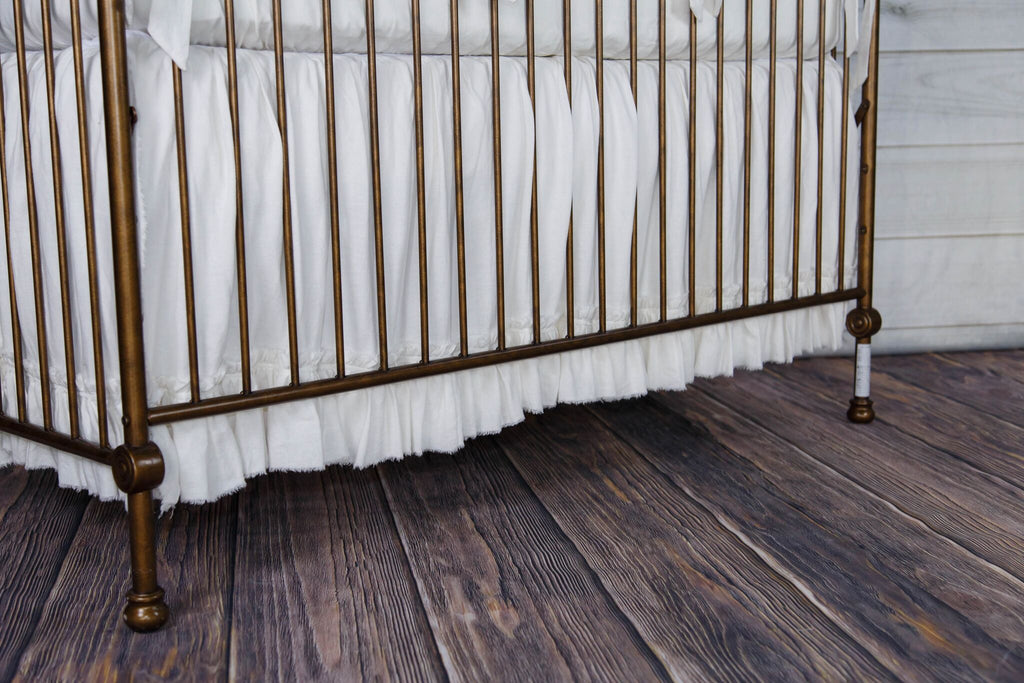 Dyllan Frayed Edge Crib Skirt