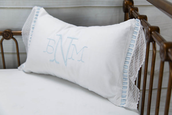 Elizabeth Heirloom Pillow Fishtail Monogram