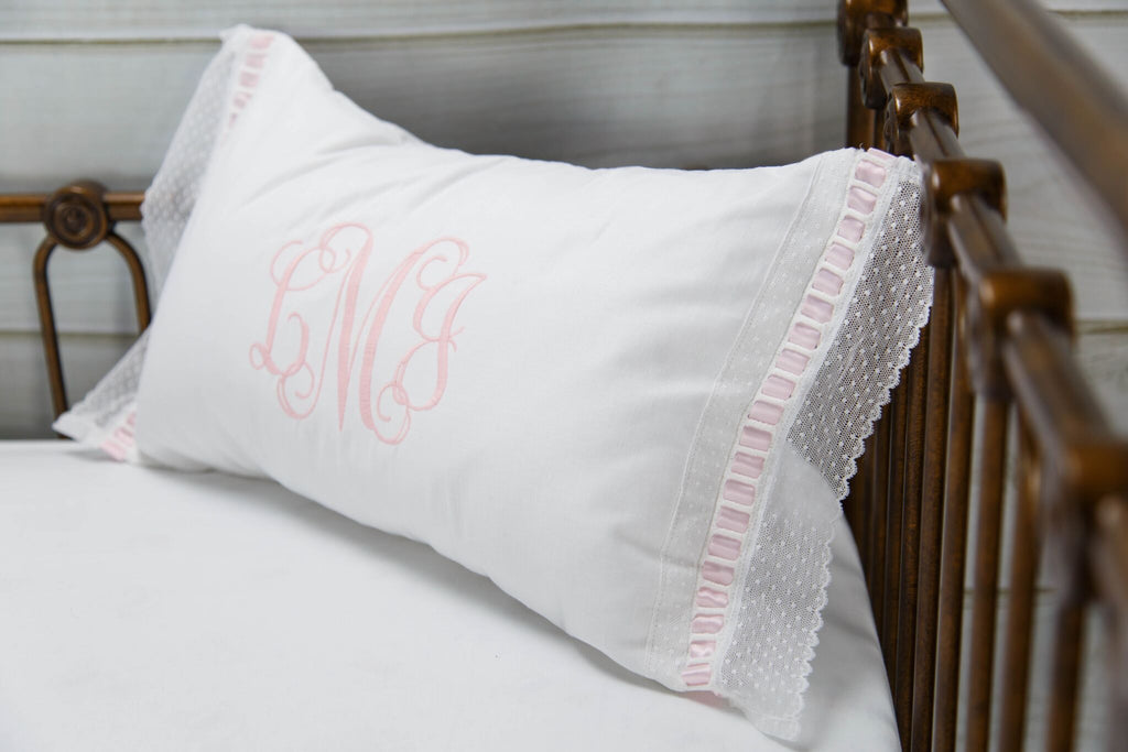 Elizabeth Heirloom Pillow Script Monogram
