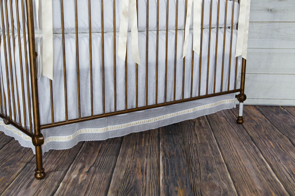 Elizabeth Heirloom Crib Skirt