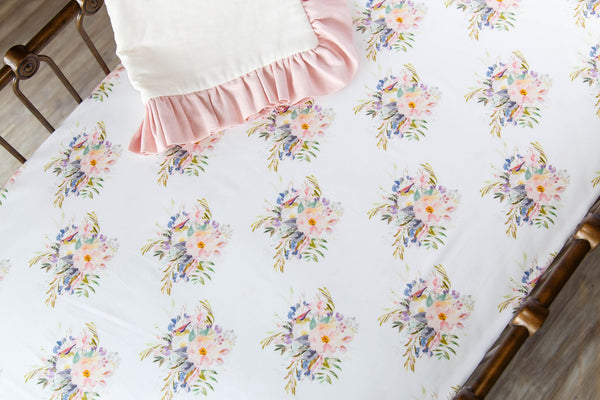 Floral Bouquet Crib Sheet