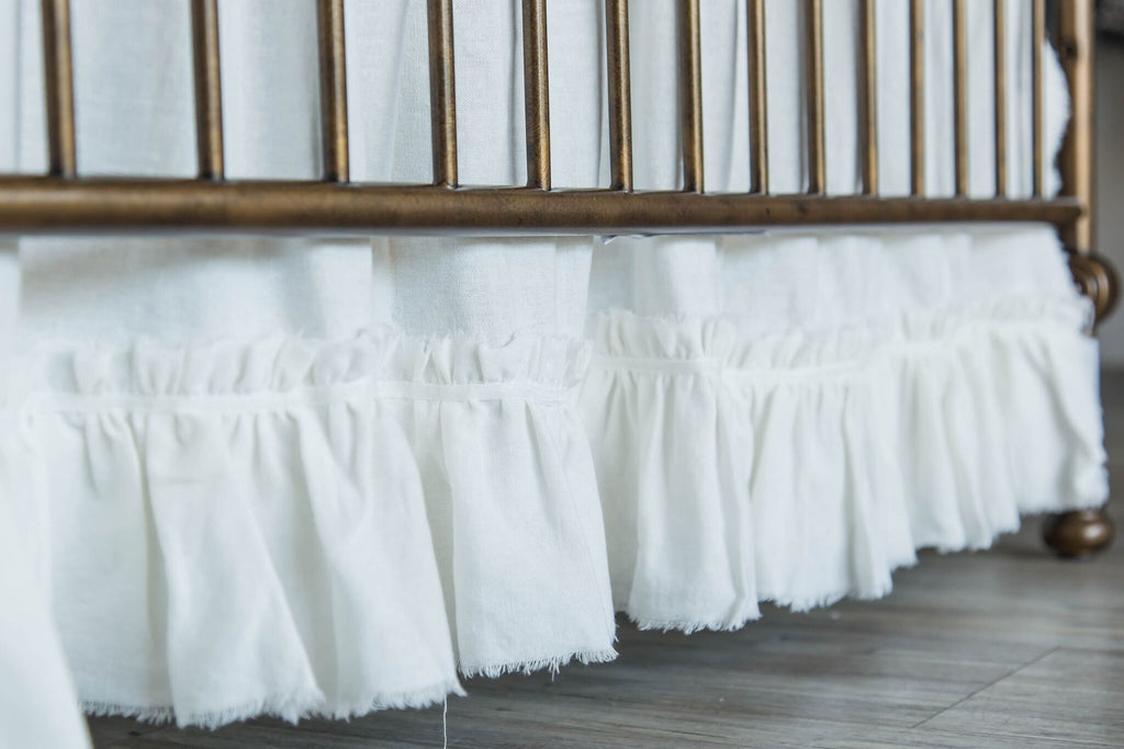 Frayed Edge Crib Skirt