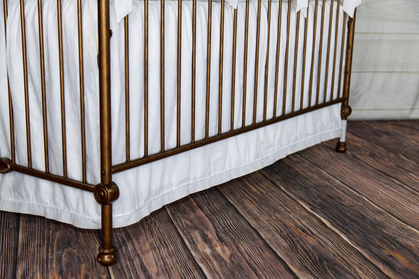 Lucy Crib Skirt Ecru Trim