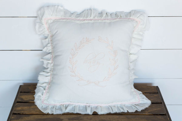 Pink Baby Embroidered Pillow