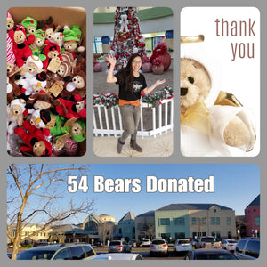 Donations delivered; 120 total bears raised from 2018 campaigns