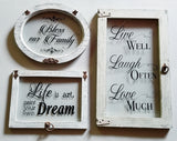 "Home Décor - ""Live Well, Laugh Often, Love Much"" Wall Accent"