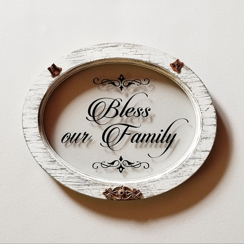 "Home Décor - ""Bless Our Family"" Wall Accent"