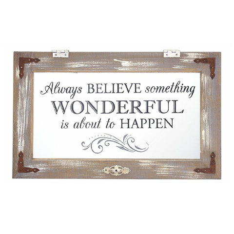 "Home Décor - ""Always Believe Something Wonderful Is About to Happen"" Wall Accent"