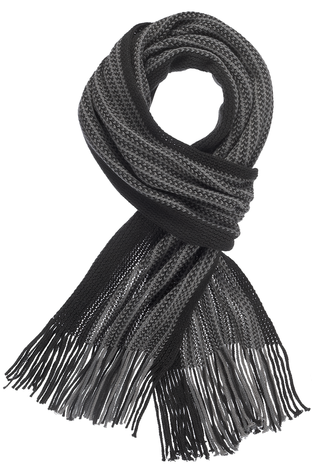 Men's Scarf - Black/Gray