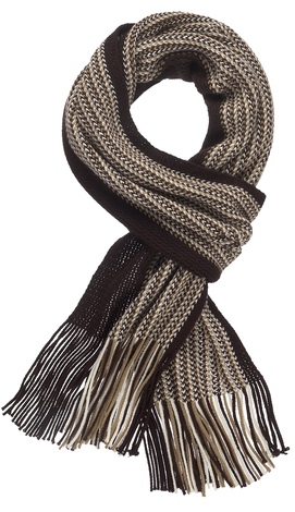 Men's Scarf - Brown/Tan