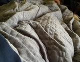 Weighted Blanket and Quilted Duvet Cover