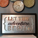 Home Décor, {Let the Adventure Begin} Wall Accent
