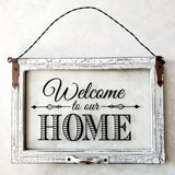 "Home Decor - ""Welcome to Our Home"" Glass Pane"