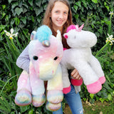 Large White Unicorn & Donated Stuffed Animal