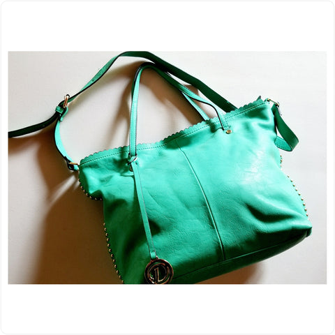Purse in Be-Seen Green