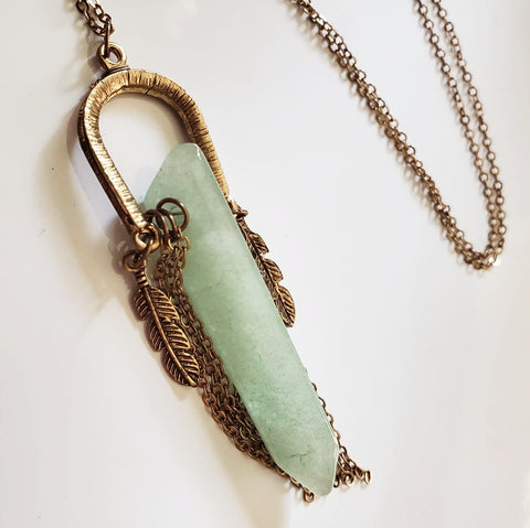 Lucky Green Crystal Pendant Necklace
