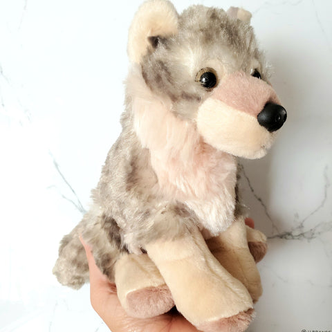 CuddleKins Wolf & Donated Stuffed Animal