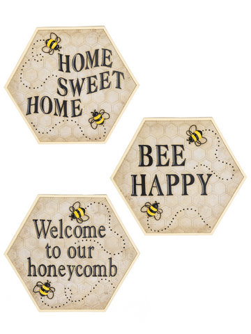Home Décor - Bee-Themed Wall Accents