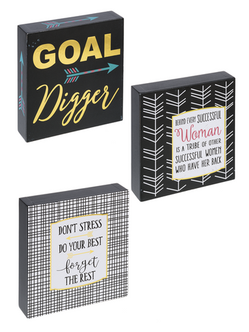 "Home Décor - ""GOAL-den Girl"" Inspirational Plaques"