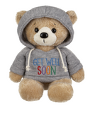 "Donation Bear Only, ""Get Well Soon"" Hoodie Bear"