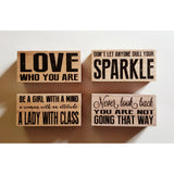 Home Décor - Decorative, Inspirational Wood Block Signs