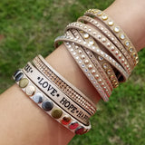 Love Hope Happiness -- Wrap Bracelet