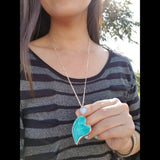 Hopeful Heart Necklace - Natural Stone/Rose Gold Color