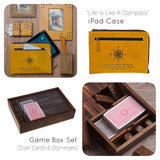Game Box Trio Set - Dice, Cards & Dominoes