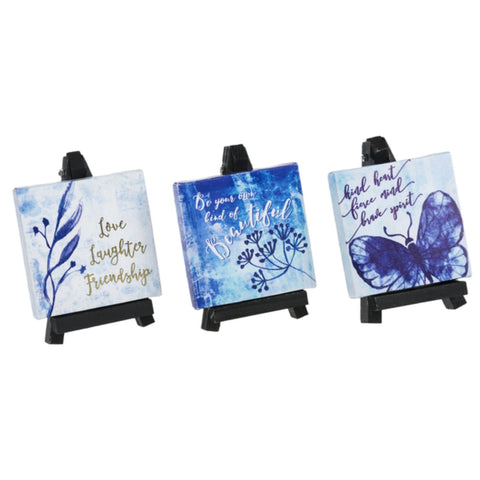 Home Accent, Mini Canvases With Easels