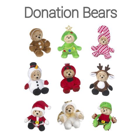 Donation Bear Only, Holiday Wee Bear