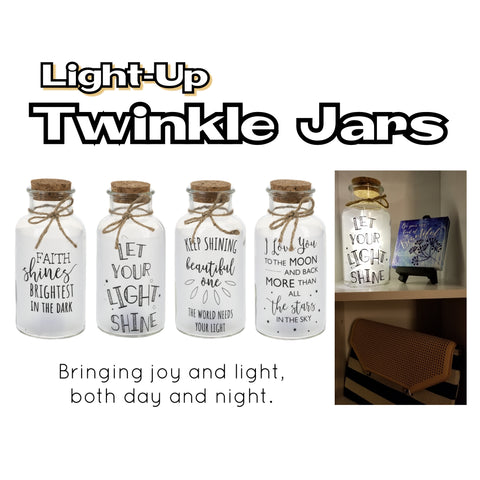 Light-Up Twinkle Jars