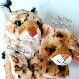 CuddleKins Bobcat & Donated Stuffed Animal